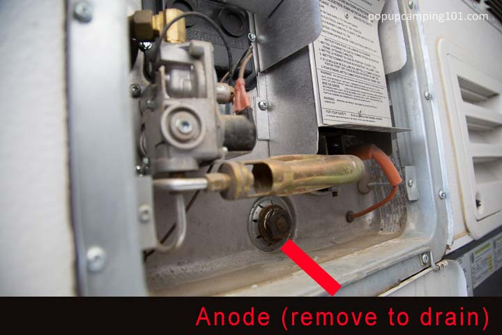 hot water heater anode removal for winterization