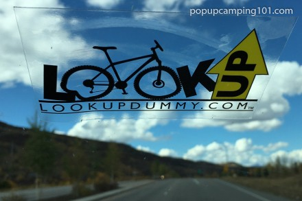 Look Up Dummy sticker